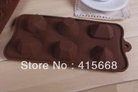 new 2014 cake decorating tools DIY chocolate mould 6 lattices silicone cake molds diamonds fondant molds wholesale