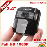"Hot selling!AT650 Novatek 96650 2.4"" mini Car DVR recorder car camera HD 1080P 150 degree Wide Angle night vision,free shipping!"