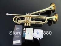 Wholesale - small Bb trumpet adjustable double Horn on the surface of gold