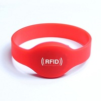 Silicone RFID Wristband With MF1 S50,  RFID Bracelet Protocol: ISO 14443A  Frequency 13.56MHz, MF1 S50 CHip Free Shipping
