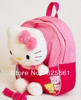 New Trends ! Cute 3D Hello Kitty Toy Baby Bags For Kids Girls .Actical Pink Children Backpack School Bag