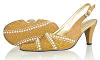 2014 brown Italian shoes with matching bags with rhinestone,high heel fashion women wedding pumps,SB8788
