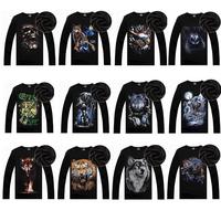 Spring/autumn /winter 2014 mens fashion designer brand 3d  Sweatshirts men's plus thick velvet warm hip-hop T shirt men t-shirt