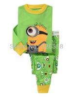 Baby boys girls Minions pajamas /spring autumn winter Toddler/ Kid's Sleepwear homewear / Despicable Me pyjamas 6 sets/lot