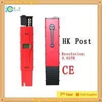 Free Shipping Hk Post Digital PH Meter/Tester 0-14 Pocket Pen Resolution0.01PH pen type PH tester