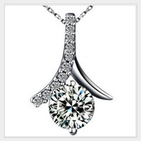 Elegent Jewelry Women's White Sapphire CZ Pave Set Paris Tower  925 Sterling Silver Linking Chain Necklace