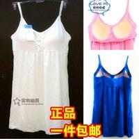 free shipping Women's basic shirt plus size spaghetti strap adjust basic shirt none single-bra