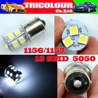 100 X 1156 1157 13 led smd 5050 BA15S BAU15S BAY15D S25 P21W Car Tail Brake Reverse Turn Signal Led bulb 12V White Red blue#LF07