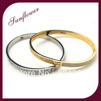 2014 Hot sale bangle Brand New Design Jewelry High Quality Fashion 18K Real Gold Plated with rhinestone and shell Wholesale