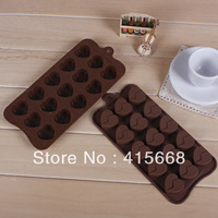 DIY heart chocolate mold silicone mould series of 15 lattices pastry mold biscuit bakeware moulds wholesale
