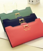 2014 new arrival  wallet female ultra-thin design women's bow long wallet multi card holder wallet women's wallet purse