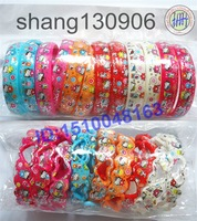 Free Shipping Heart-shaped&circle Hello Kitty Bracelets Wristbands for pupils Mix color