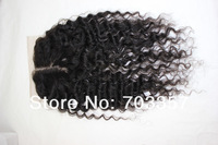 Queen Hair Products Brazilian Virgin Hair loose wave Lace Closure 4x4 bleached knotsUnprocessed Human Hair Closure Free Shipping