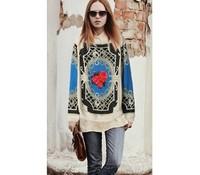 Vintage 2013 long-sleeve sweater decorative pattern sweet rabbit hair sweater pullover