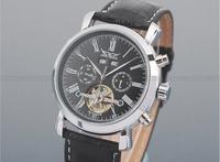 Date Week Month Mens Leather Strap Tourbillon Watch Relogio Luxury Brand Winner Jaragar Automatic Mechanical Watch Men