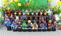 Super Hero Block Avengers Wolverine Ironman Spiderman Batman Green Lantern Toy Alien Figures Classic Toy Hulk Superman Robot