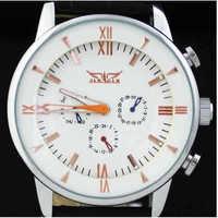 Luxury Brand  Relogio Masculino Winner Jaragar Automatic Mechanical Watch Men 6 Hands Mens Leather Strap Watch Wristwatch