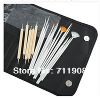 Wholesale Hot Sale Fashion Professional Nail Art Pens 20 Pieces Kit Set Nail Manicure Tools Free Shipping nails & tools