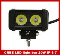 Hot selling CREE 20W 10-45 DC 1.1KG SUV light bar