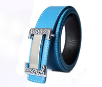 Free shipping 1PCS Fashion Carved Buckle Genuine Leather Belt at various colour