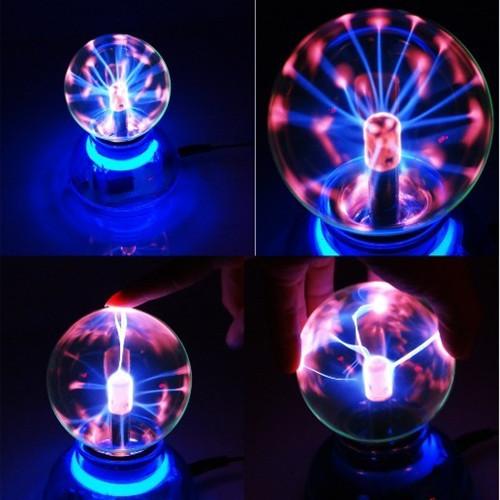 Hot Sale Crystal Magic Glass Plasma Ball Car Air Freshener Neon Sphere Negative Lon Car Interior Light Christmas Decoration Lamp(China (Mainland))