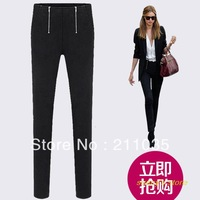 Women Plus Size autumn Spring  double zip leggings pants slim casual pencil trousers,R93,DY,G503,8035#