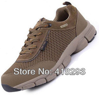 New2014 men's outdoor camel mountain hiking shoes Breathable leisure walking shoes size 39-44. two colors free shipping