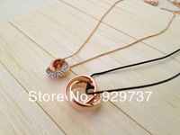 infinite love couple necklace-lover necklace-rose gold ring necklace-for lover necklace