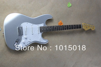 Free Shipping 2014 New Arrival Hot Guitar Stratocaster Custom Shop Silver Color Electric Guitar In Stock  xiehui