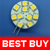 Brightest 120 Lumens G4 Base 10 SMD LED Bulb 12V AC DC