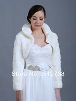 IVORY FAUX FUR SHRUG WRAP SHAWL WEDDING CAPE BOLERO GIRL