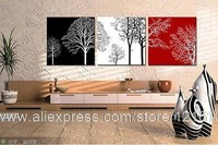 Black White Red Abstract Trees Modern Art On High Quality Canvas Et Oil Painting Bedroom Decor Painting Oil Living Room W