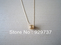 mini ball necklace-gold mini bead necklace-simple necklace-best gift in Christmas