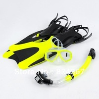 Original export diving snorkeling equipment supplies goggles + full dry breathing tube + fins horse generation necessary