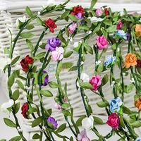 Boho Lady Girl Floral Flower Festival Wedding Garland Forehead Hair Head Band headbands Crown Accessories Sports Wholesale 06D4