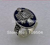 Fashion Vintage Vampire Diaries Ring Salvatore Damon Stefan Finger Family Crest Ring Lapis Lazuli Ellipse Ring ZR8