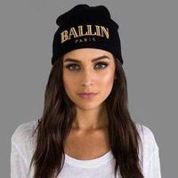Brand BALLIN Paris Beanie hat hiphop fall winter 2014 new street knitted cap hats for women - men top quality sale