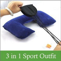 50PCS/LOTS! wholesale Free shipping!3in1 Inflatable Travel Pillow + Eye Shade Mask + Ear Plugs
