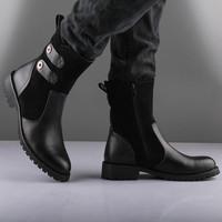 Wholesale 2014 Korean version of the British men's boots snow boots fashion boots male boots male boots cowboy boots men's