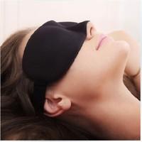wholesale 50PCS/LOTS!The black sleeping eye mask shade nap cover blindfold sleeping eyeshade for travel rest free shipping