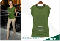 Women's 2013 summer fashion brief candy color multicolor modal o-neck short-sleeve cotton T-shirt