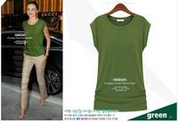 Women's 2013 summer fashion brief candy color multicolor modal o-neck short-sleeve cotton T-shirt