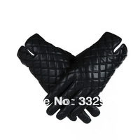 New arrival women fashion winter  leather black gloves Free shipping winter MotorCycling gloves with   04B