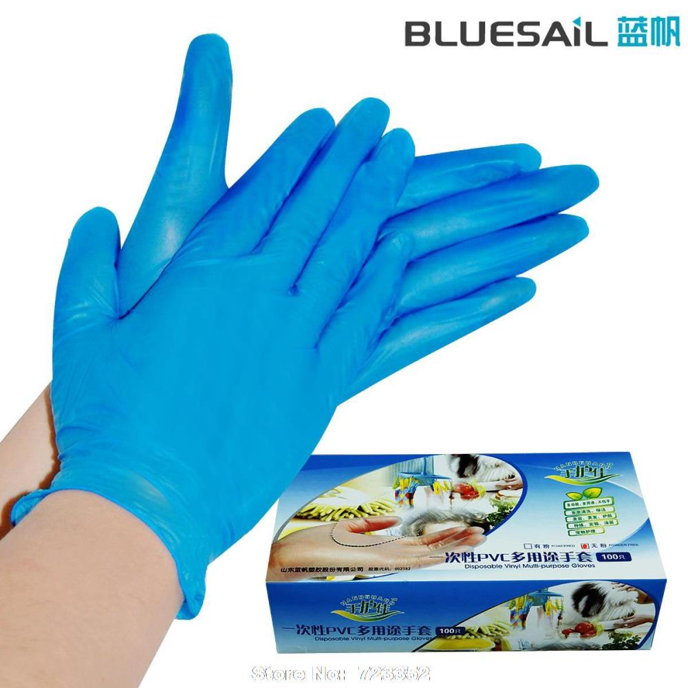 LanFan disposable gloves laboratory glove oil oil acid and alkali resistant rubber lat