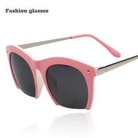 7 Color High Quality Vintage Color Half Frame Metal Cat Eye Sunglasses Luxury Round Designer Women Men Glasses Eyewear Wood Box