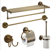 Fashion vintage copper towel rack towel rack shelf set antique bathroom hardware accessories kit