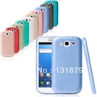 100pcs/lot For Samsung Galaxy S3 i9300 Case High Quality Luxury Brushed Surface TPU Gel Case Cover For Samsung Galaxy S3 i9300