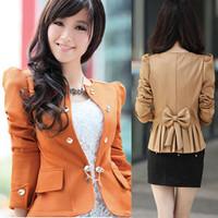 Slim blazer female spring and autumn coat suit design short outerwear 2013 autumn