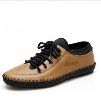 2013 special new casual shoes handmade leather sewn British men Peas shoes free shipping