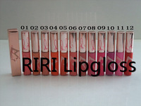 Free Shipping DHL ! New Makeup 12 Colors RiRi Hearts Lipgloss 3g ! 60pcs/lot